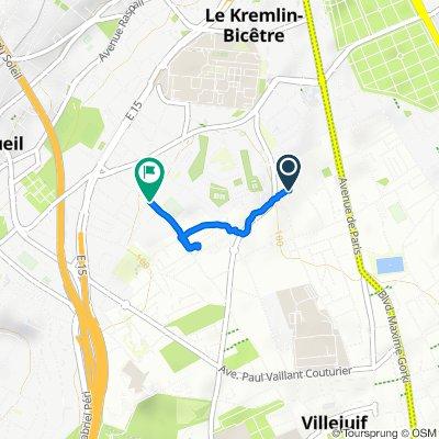 62 Rue René Thibert, Villejuif to 49 Rue du Professeur Bergonié, Le Kremlin-Bicêtre