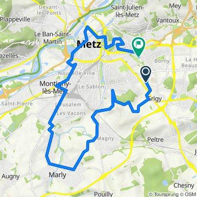 De 2–7 Rue Marconi, Metz à 77 Rue Claude Bernard, Metz