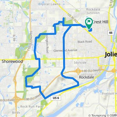 1204 Norley Ave, Joliet to 1313 Catherine St, Joliet