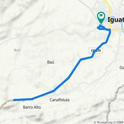 De Rua A, Iguatu a Rua A, Iguatu