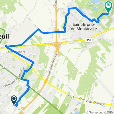 To Mont St-Bruno Sommet-Trinité