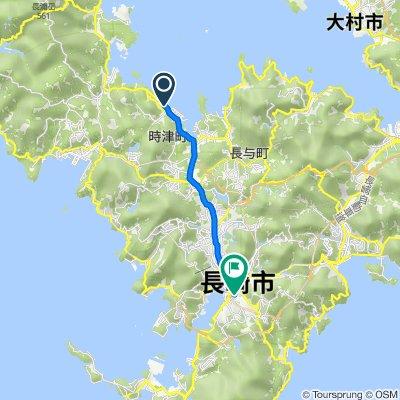 1320-103, Hinamigo, Togitsu, Nishisonogi-Gun to Shinchimachi, Nagasaki