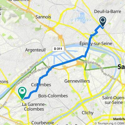De Rue Duguay-Trouin, Deuil-la-Barre à 115 Rue de l'Agriculture, Colombes