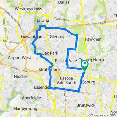 27 Stawell Street, Coburg to 22 Stawell Street, Coburg