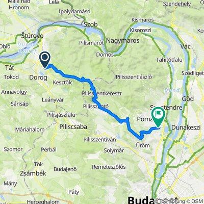 Pilisi hegymászó maraton útvonala