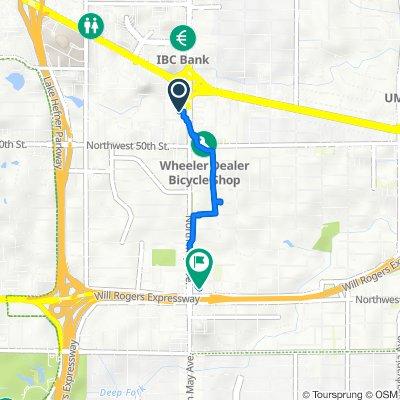 North May Avenue 5315, Oklahoma City to Northwest 39th Street 2821, Oklahoma City