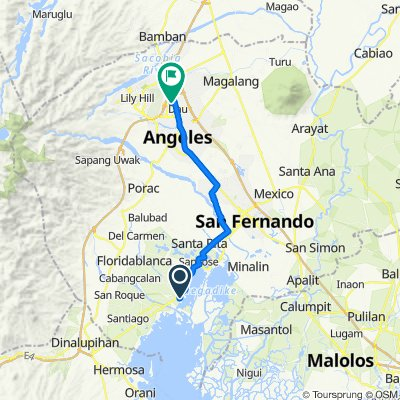 Route from Unnamed Road, Lubao