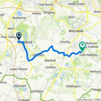 2 Freshfields, Knutsford to Artists Lane, Nether Alderley, Macclesfield