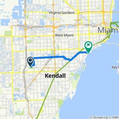 11001 SW 76th St, Miami to 2820 McFarlane Rd, Miami