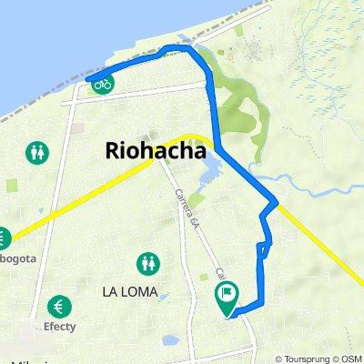 De Carrera 7a 14, Riohacha a Carrera 7a 14, Riohacha