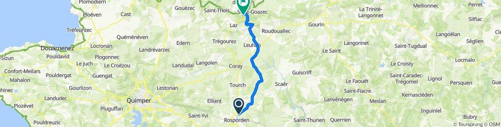 De Névars Izella, Rosporden à Trevarez, Saint-Goazec