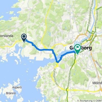 Hamneviksvägen 101, Göteborg to Husargatan 28, Göteborg