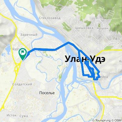 От Баргузинская улица 49, Улан-Удэ до Баргузинская улица 49, Улан-Удэ