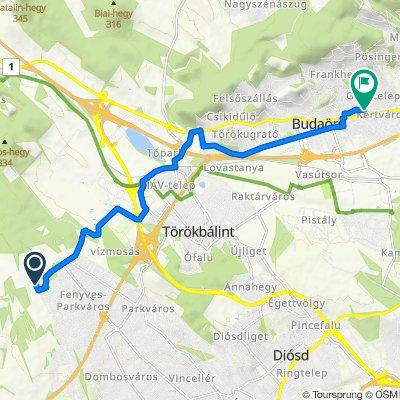 Route to Mátyás király utca 10., Budaörs