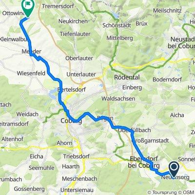 Lichtenfelser Straße 11, Weidhausen bei Coburg nach Tremersdorfer Straße, Meeder