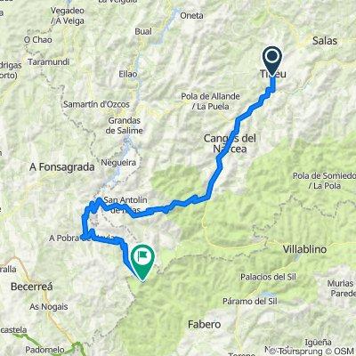 Tineo-Ancares. Con 4100m en 110km