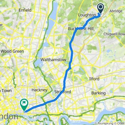 83 Torrington Dr, Loughton to 122 Leadenhall St, London