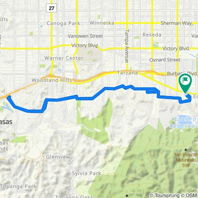 17409 Tarzana St, Los Angeles to 17429 Tarzana St, Los Angeles