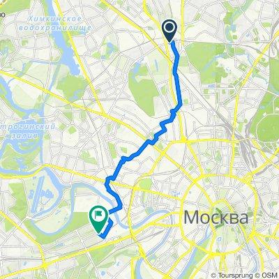 От 3-й Нижнелихоборский проезд, 15, Москва до улица Барклая, 8, Москва