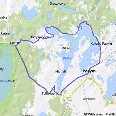 PASYM 2011: Rudziska Pasymskie- rajd wokół jeziora Kalwa