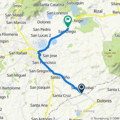 San Pablo Boundary-Dolores-Pinagdanglayan Road, San Pablo City to San Pablo-Rizal-Nagcarlan-Liliw Road, San Pablo City