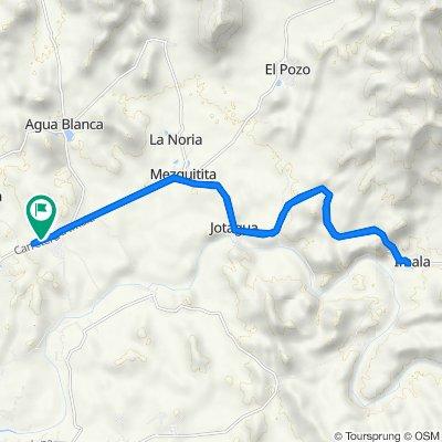 De Carretera Culiacán - Imala, Culiacán a Carretera Culiacán - Imala, Culiacán