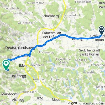 Grazer Straße 14a, Groß St. Florian nach Kruckenberg 21, Deutschlandsberg