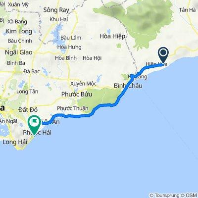 Đường Quốc Lộ 55, H. Hàm Tân to Đường Võ Thị Sáu, Dat Do