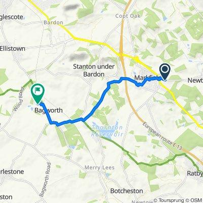 269 Markfield Lane, Markfield to 10 Hawthorne Road, Coalville