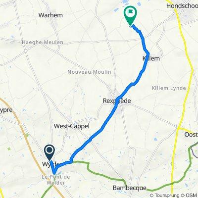 De Route de Quaëdypre CD37 201, Wylder à Chemin des Moeres 6, Killem