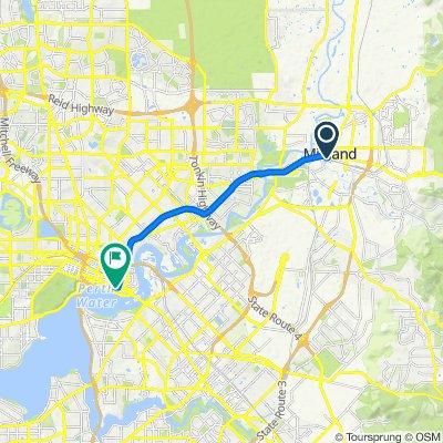Midland Stn Transwa Midland to Adelaide Terrace 188, Perth