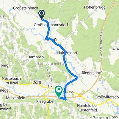 Großsteinbach, Großsteinbach nach Süd-Autobahn, Ilz