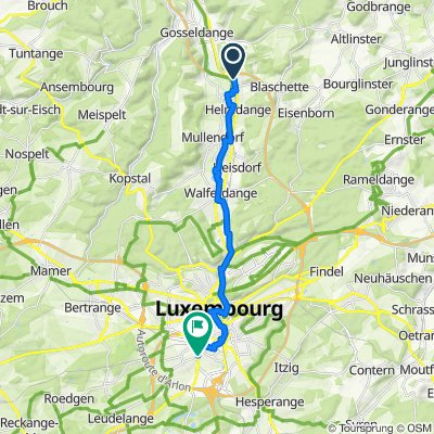 Route de Luxembourg 38, Lorentzweiler to Route d'Esch 284, Luxembourg