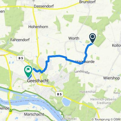 Forstweg 33, Brunstorf nach Narzissenweg 2, Geesthacht