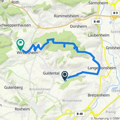 Unnamed Road, Guldental nach Im Taubentrank 29, Windesheim