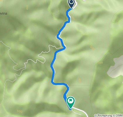 Unnamed Road to Strada Mănăstirii 290, Tismana
