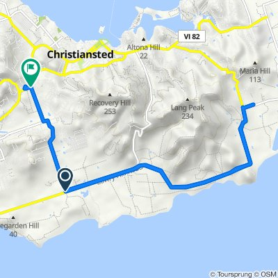 Granard Rd, Christiansted to Queen Mary Hwy, Christiansted