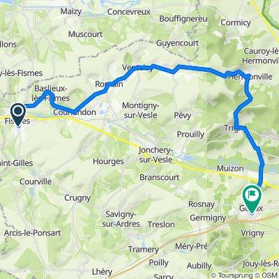 De 27 Faubourg d'Épernay, Fismes à 1 Impasse du Moulin à Vent, Gueux
