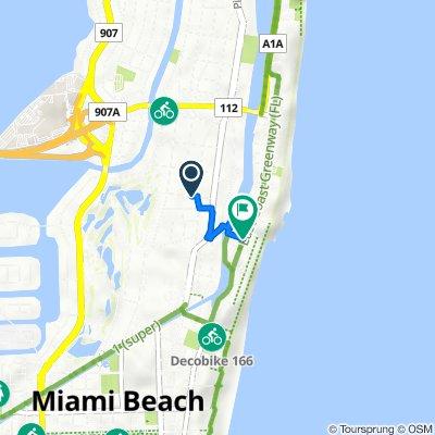 420 W 31st St, Miami Beach to 2800–2898 Collins Ave, Miami Beach