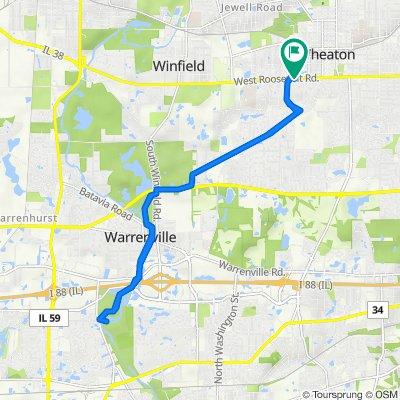 928 W Roosevelt Rd, Wheaton to 928 W Roosevelt Rd, Wheaton