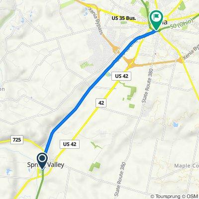 2804 Elm St, Spring Valley to Little Miami Scenic Bike Path, Xenia