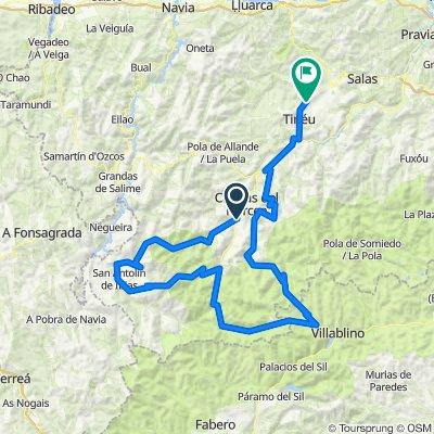 Cangas-Casa'l Puerto. 5300m en 210km (5900-600 del Rañadoiro)