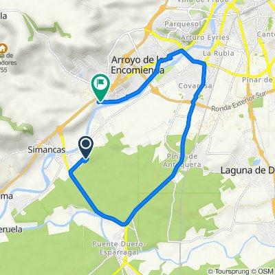 De Calle Zarcera, 11, Simancas a Calle Centenera, 1, Arroyo de la Encomienda