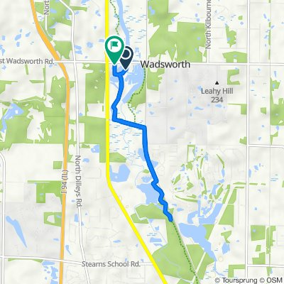 Route to 15677–15681 W Wadsworth Rd, Wadsworth