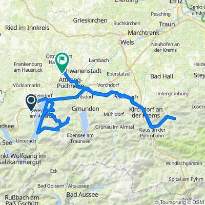 """2 Tages-Tour """"Rund um den Attersee"""" - Erste Etappe: Abtsdorf-Seefeld"""