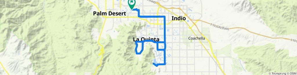 43100 Virginia Ave, Palm Desert to 76540 New York Ave, Palm Desert