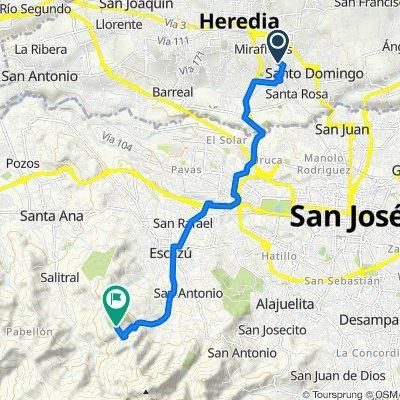 De Rincón de Ricardo, Rincón de Sabanilla a Unnamed Road, San Antonio