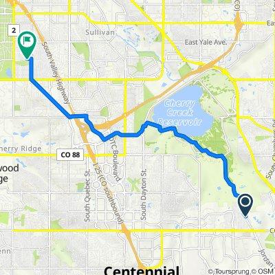 6409 S Blackhawk Way, Aurora to 4604 E Dartmouth Ave, Denver