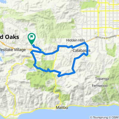 To Pedalers Fork from Agoura Hills1