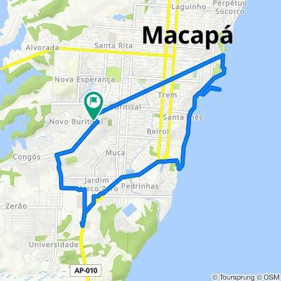 De Avenida Maria de Nazaré Brito de Souza, 1703, Macapá a Avenida João Batista Coutinho, 1753, Macapá